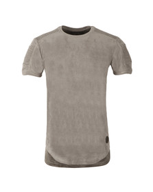 Project X Paris Mens Grey Suede Ribbed T Shirt