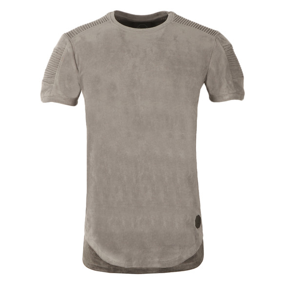 Project X Paris Mens Grey Suede Ribbed T Shirt main image
