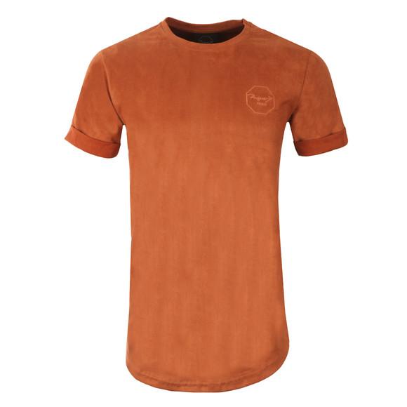 Project X Paris Mens Orange Suede Brand Carrier T Shirt main image
