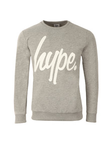 Hype Mens Grey Script Crew Neck Sweatshirt