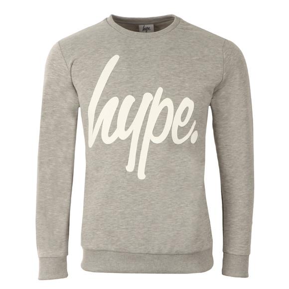 Hype Mens Grey Script Crew Neck Sweatshirt main image