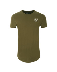 Sik Silk Mens Green Short Sleeve Gym T Shirt
