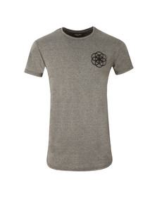 Scar Tissue Mens Grey Gym Curved Hem T Shirt