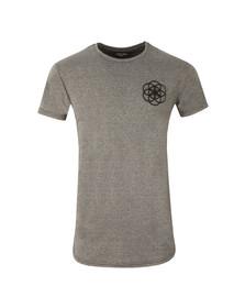 Scar Tissue Mens Grey Gym Curved Hem T Shirt