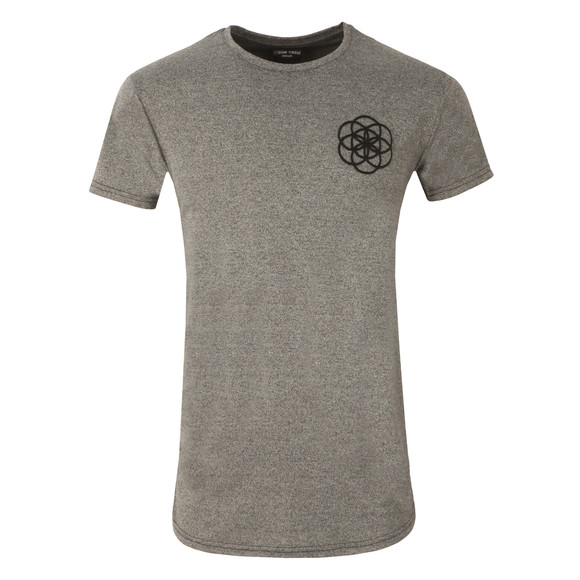 Scar Tissue Mens Grey Gym Curved Hem T Shirt main image