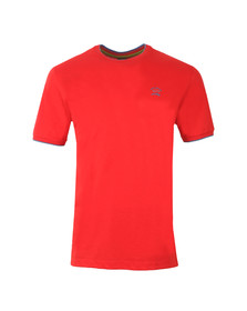 Paul & Shark Mens Red Small Logo T Shirt