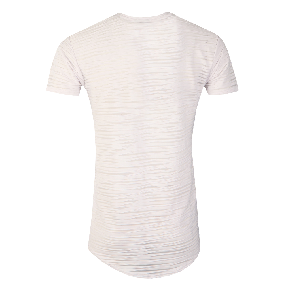 Stripe Curved Hem T Shirt main image