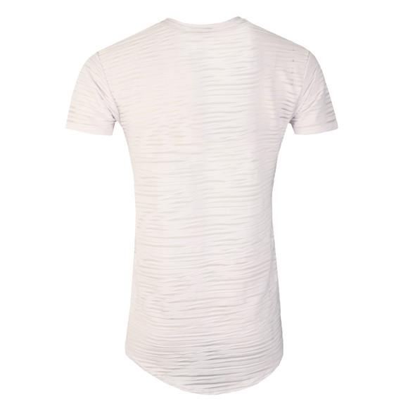 Scar Tissue Mens White Stripe Curved Hem T Shirt main image