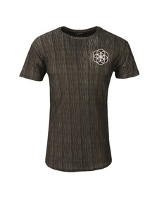 Scar Tissue Mens Grey Textured Curve Hem T Shirt