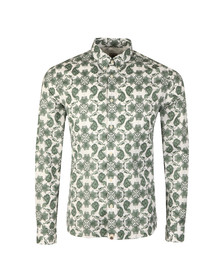 Pretty Green Mens Green Palatine Pattern Shirt