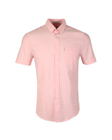 Ben Sherman Mens Pink S/S Classic Oxford Shirt