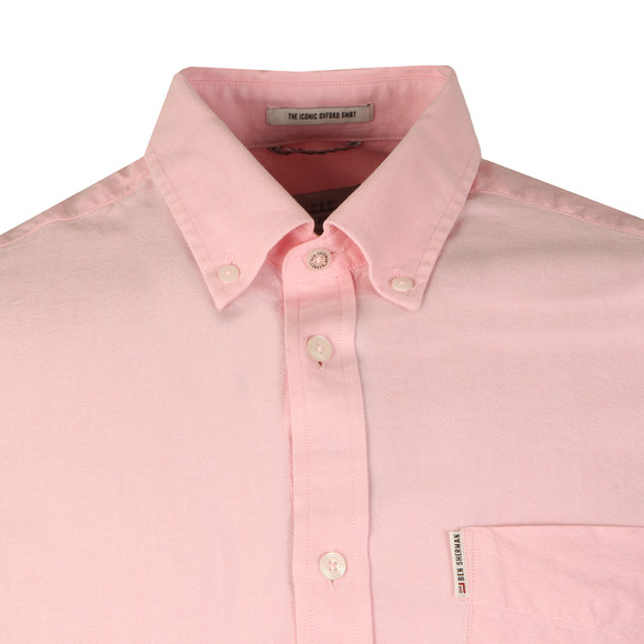 Ben Sherman Mens Pink S/S Classic Oxford Shirt main image