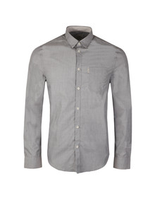 Ben Sherman Mens Grey L/S End on End Shirt