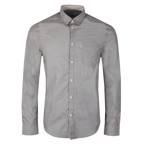 Ben Sherman Mens Grey L/S End on End Shirt main image