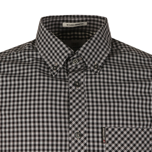 Ben Sherman Mens Grey S/S Core Gingham Shirt main image