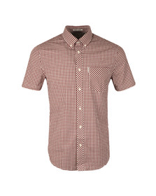 Ben Sherman Mens Red S/S Core Gingham Shirt