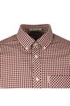 Ben Sherman Mens Red S/S Core Gingham Shirt