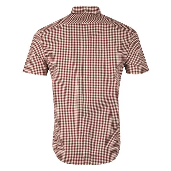 Ben Sherman Mens Red S/S Core Gingham Shirt main image