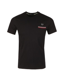 Fred Perry Mens Blue S/s Tipped Pocket Tee