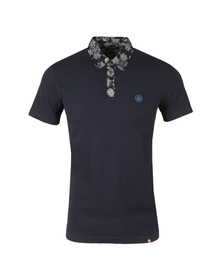 Pretty Green Mens Blue Palatine Collar Polo Shirt