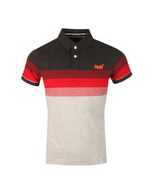 Superdry Mens Grey Longbeach Polo