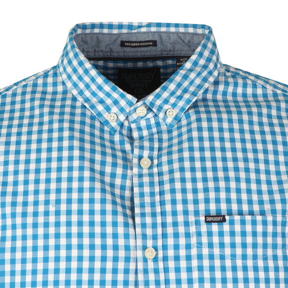 Superdry Mens Blue Ultra Lite Oxford Check Shirt main image