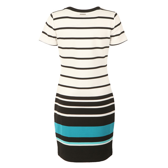 Michael Kors Womens White Stripe Ottoman T Shirt Dress main image