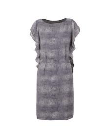 Michael Kors Womens Blue Zephyr Reptile Dress