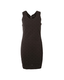Superdry Womens Black Schiffli Knotty Bodycon Dress