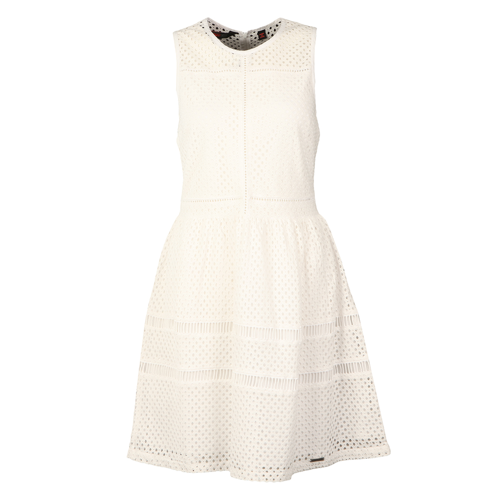 8885a91df1b6 Superdry Geo Lace Mix Skater Dress
