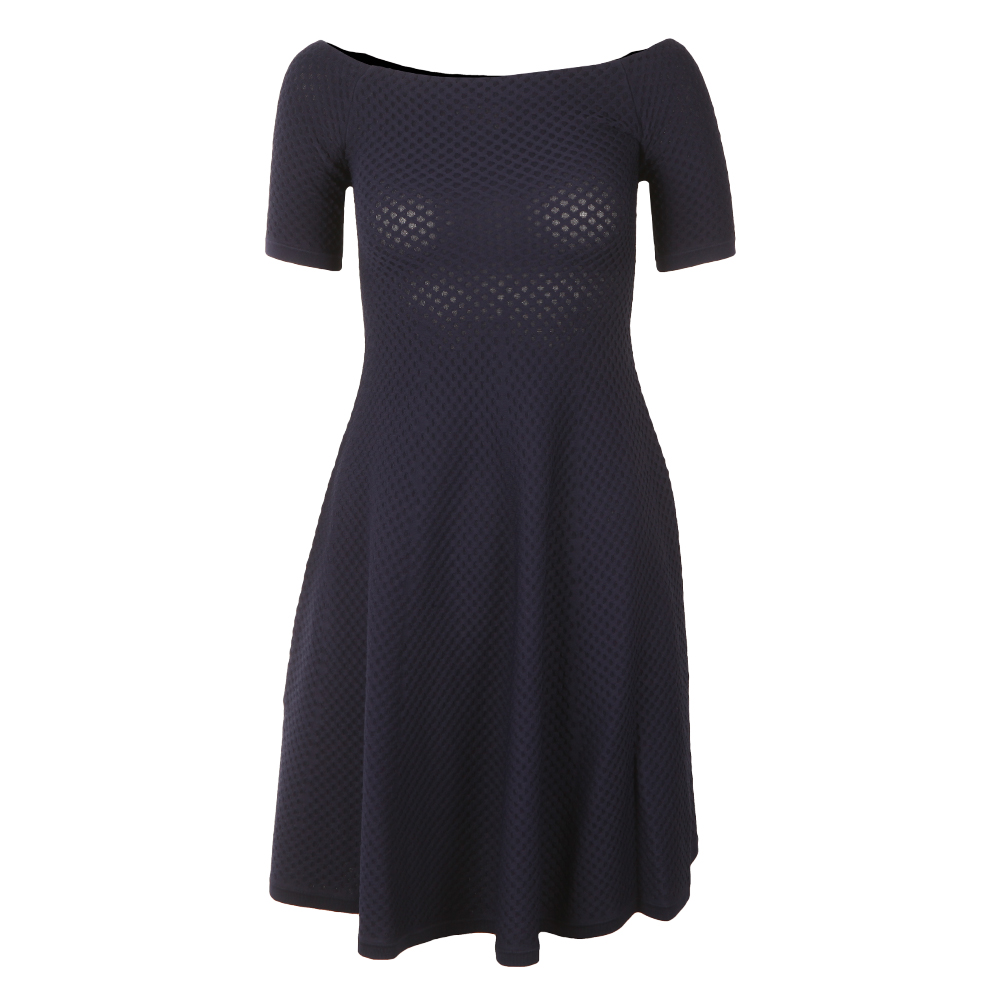 Off Shoulder Texture Dress