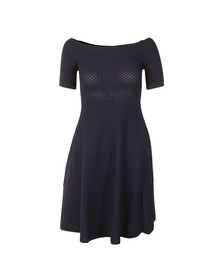 Michael Kors Womens Blue Off Shoulder Texture Dress