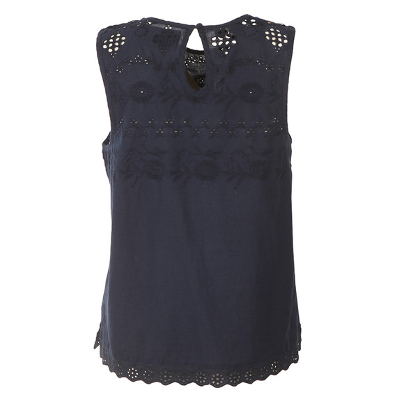 Superdry Womens Blue Broderie Shell Top main image