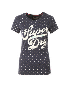Superdry Womens Blue Trade Markd Entry Tee
