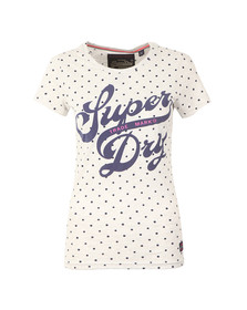 Superdry Womens Grey Trade Markd Entry Tee