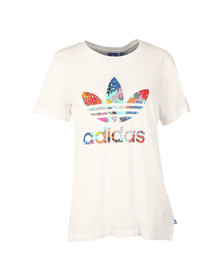 Adidas Originals Womens White Coral Graphic T Shirt