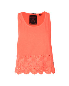 Superdry Womens Pink Beach Broiderie Shell Top