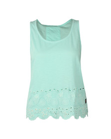 Superdry Womens Blue Beach Broiderie Shell Top