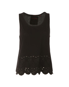 Superdry Womens Black Beach Broiderie Shell Top