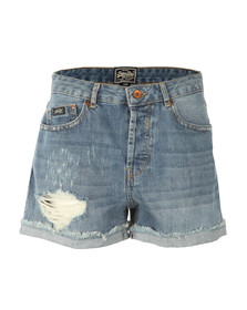 Superdry Womens Blue Freya Short
