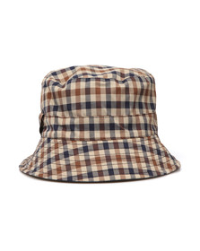 Aquascutum Mens Blue Reversible Bucket  Hat