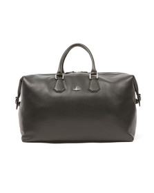 Vivienne Westwood Mens Black Leather Weekender Bag