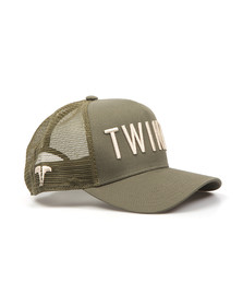 Twinzz Mens Green Mesh Trucker Cap