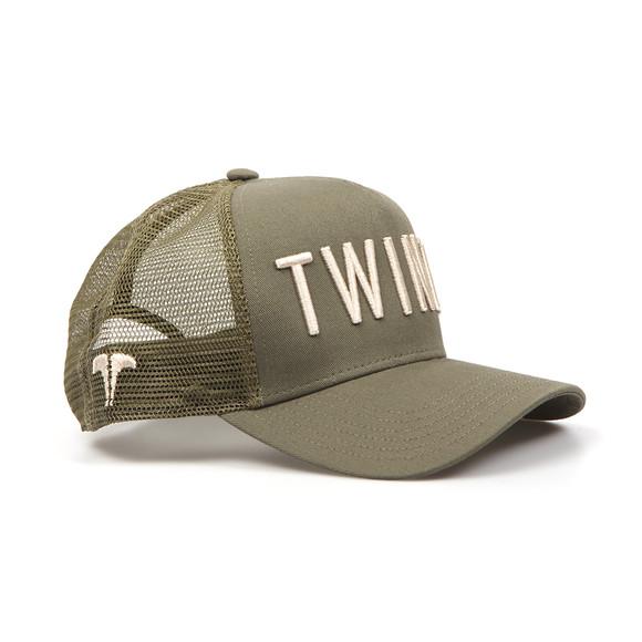 Twinzz Mens Green Mesh Trucker Cap main image