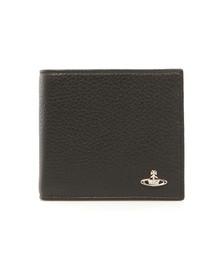 Vivienne Westwood Mens Black Milano Horizontal Coin Pocket Wallet