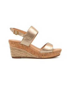 Ugg Womens Gold Elena Metallic Wedge