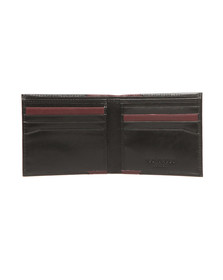 Ted Baker Mens Black Leather Bifold Wallet