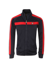 Fila Mens Blue Renzo Tricot Funnel Neck Track Top