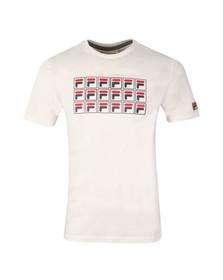 Fila Mens White Lorenzi Raglan Graphic T Shirt