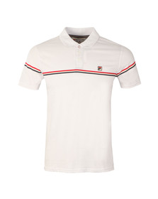 Fila Mens White Martelli Printed Polo Shirt
